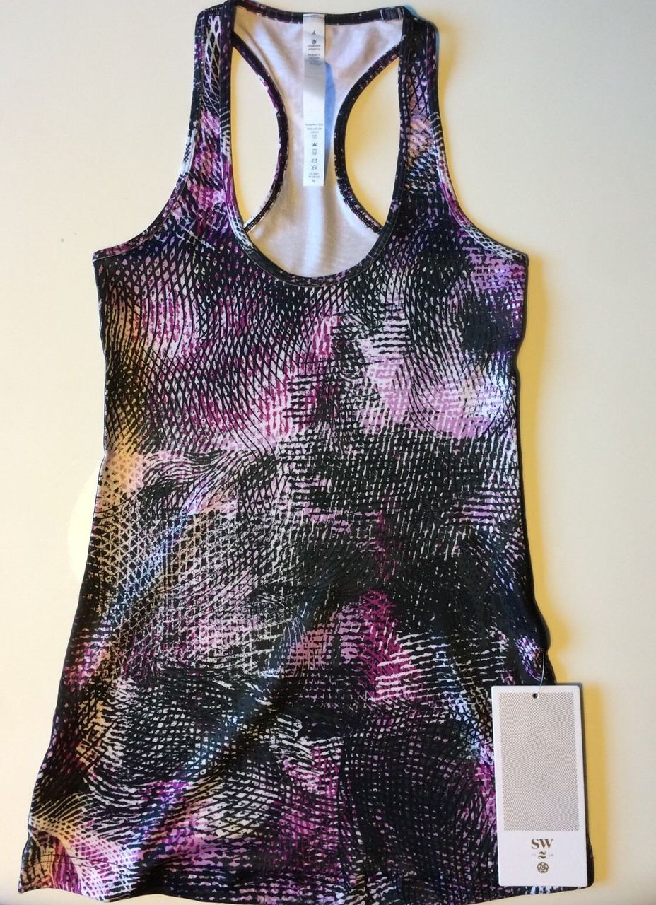 Lululemon Cool Racerback - 2016 Seawheeze - Mo Money Light Up Lilac Black / Black