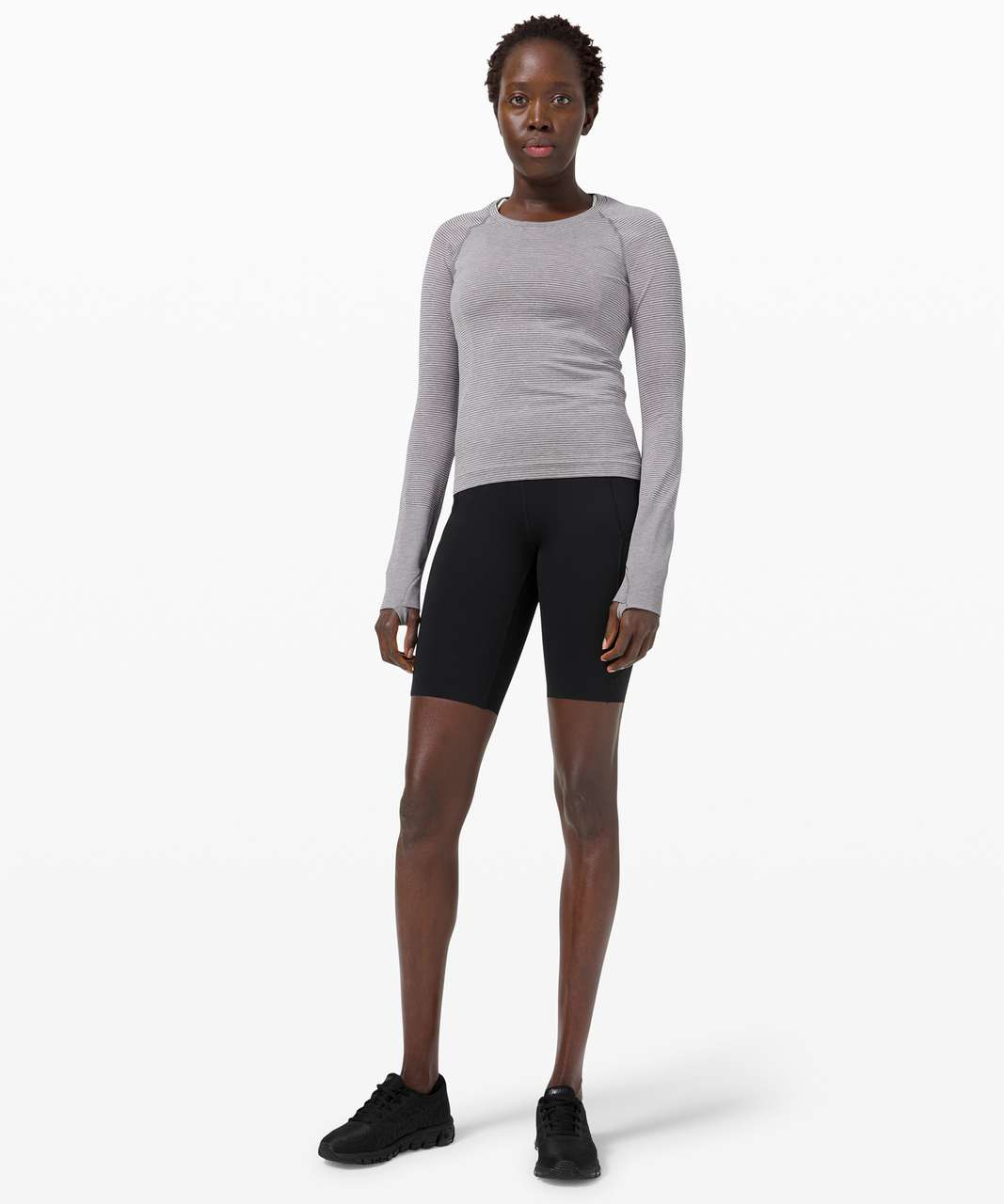 Lululemon Swiftly Tech Long Sleeve 2.0 *Race Length - Tetra Stripe Asphalt Grey / Violet Verbena