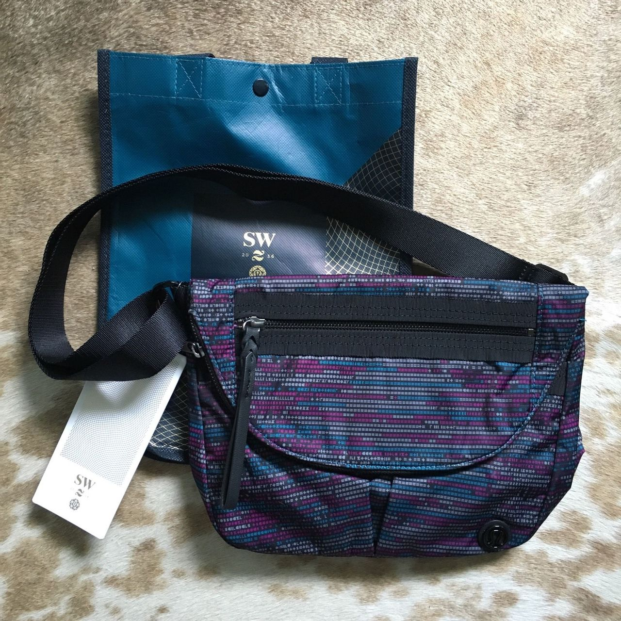 Lululemon Festival Bag Ii 2017 Seawheeze Ascii Regal Plum Tofino Teal