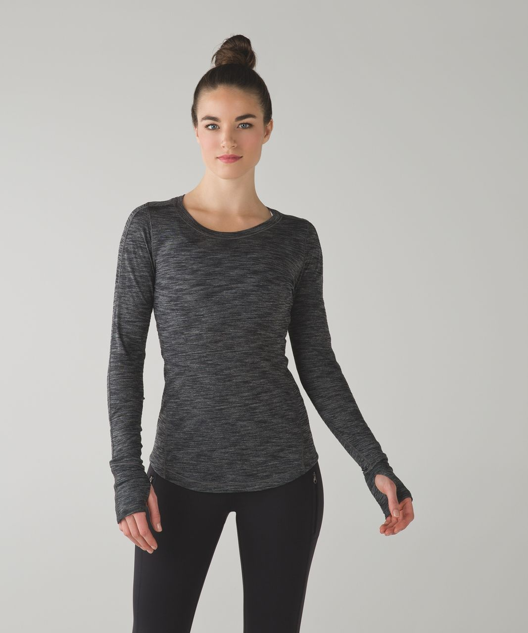 Lululemon 5 Mile Long Sleeve - Heathered Black