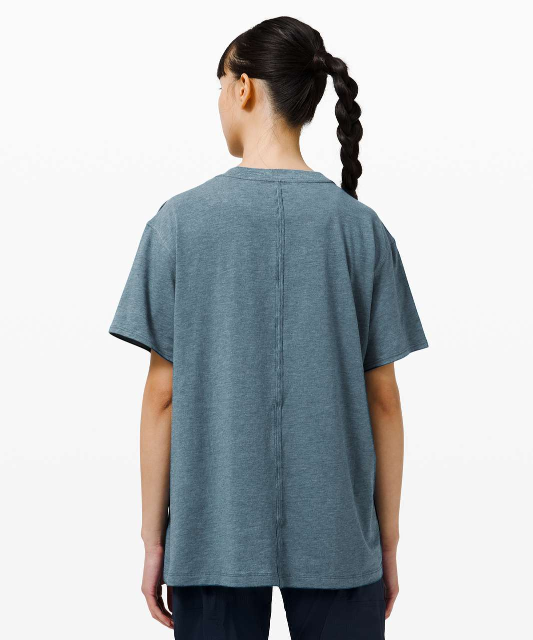 Lululemon All Yours Tee - Heathered Blue Borealis