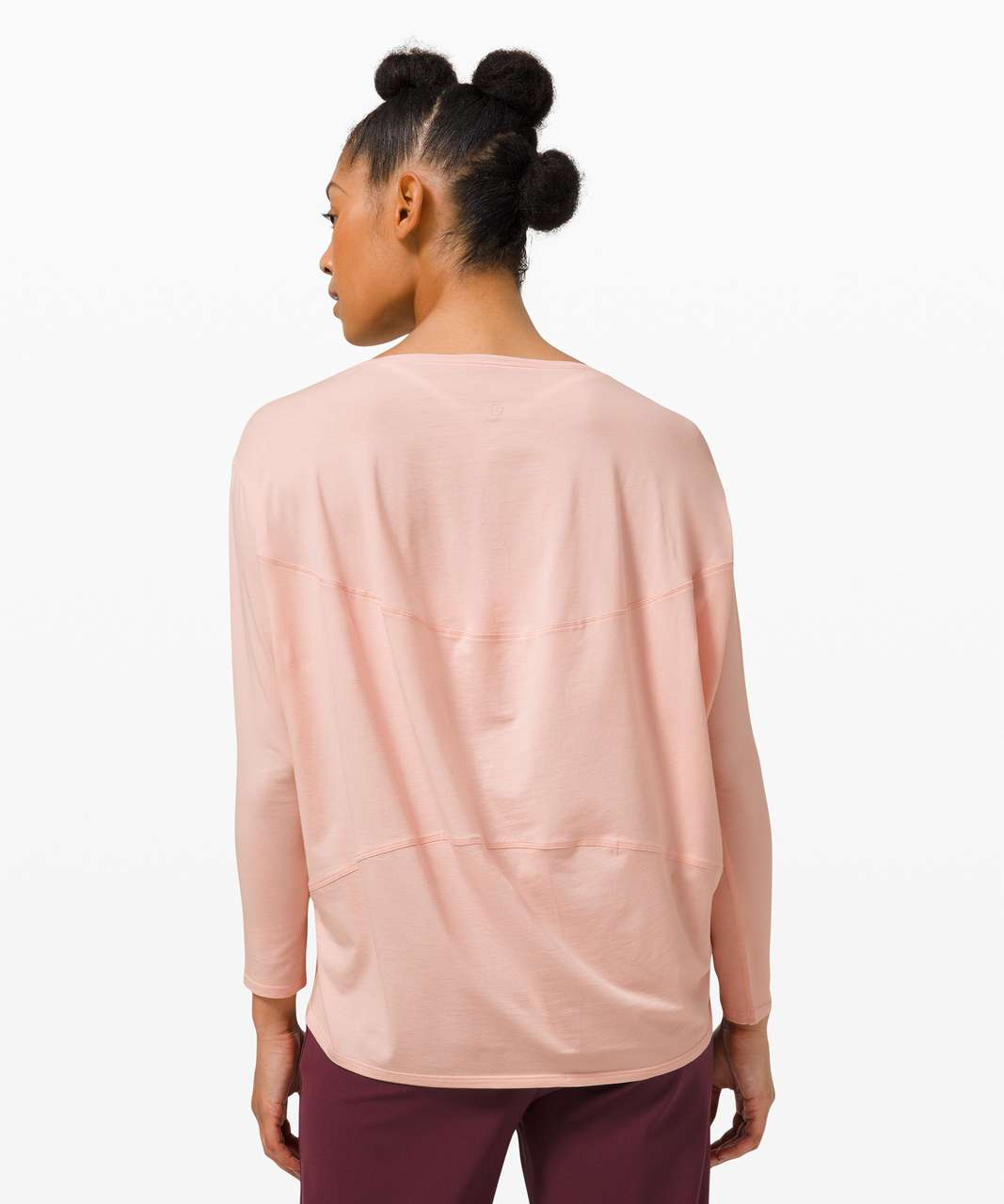 Lululemon Back In Action Long Sleeve - Pink Mist