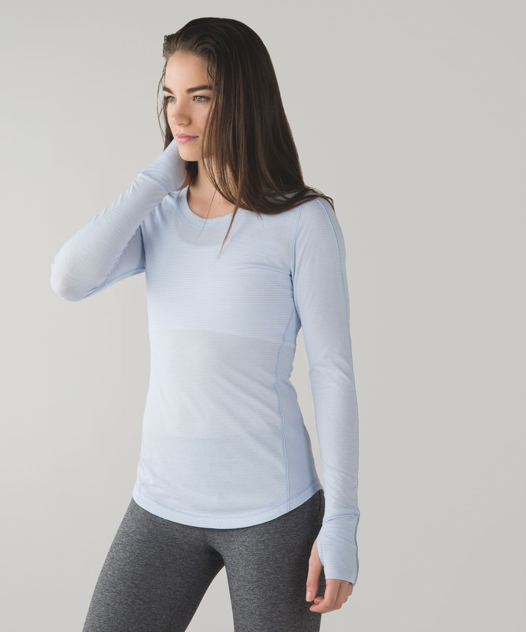 Lululemon 5 Mile Long Sleeve - Heathered Chalk