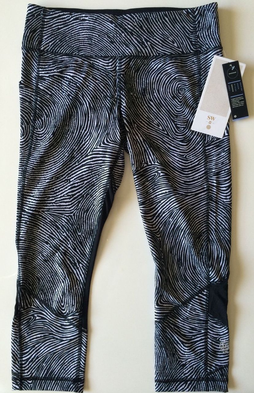 Lululemon Pace Rival Crop - 2016 Seawheeze - Who Done It Black / Black
