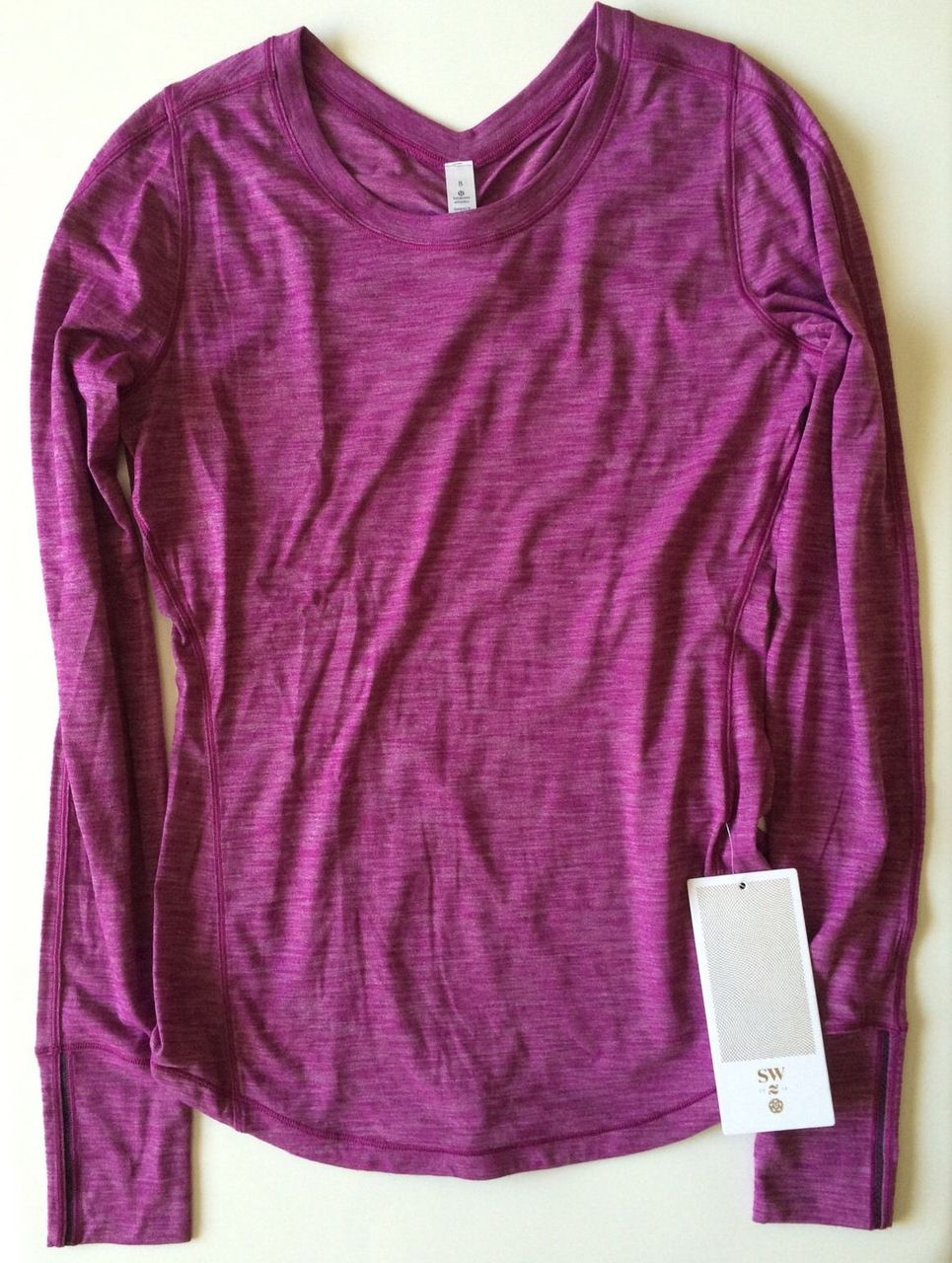 Lululemon 5 Mile Long Sleeve - 2016 Seawheeze - Heathered Regal Plum