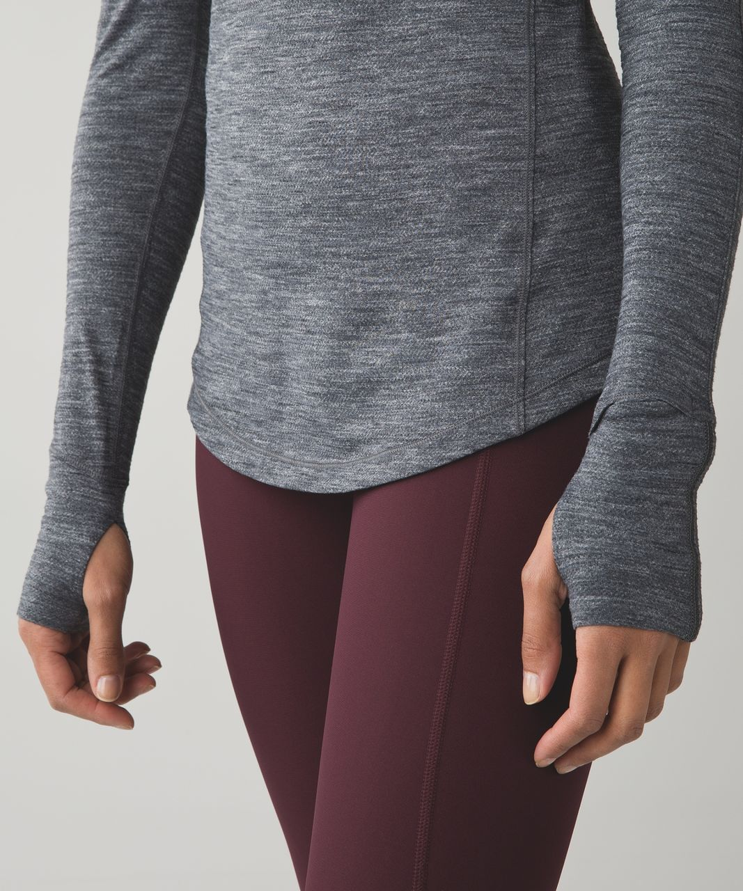 Lululemon 5 Mile Long Sleeve - Tiger Space Dye Dark Slate Black