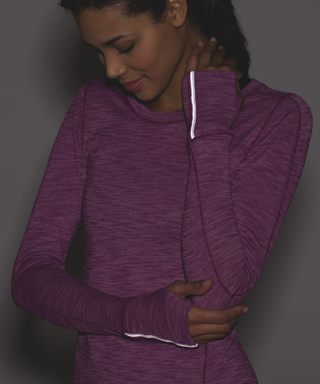 Lululemon 5 Mile Long Sleeve - Heathered Regal Plum