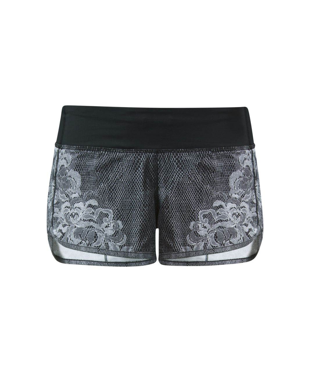 Lululemon Speed Short - Florence Speed Short White Black / Black