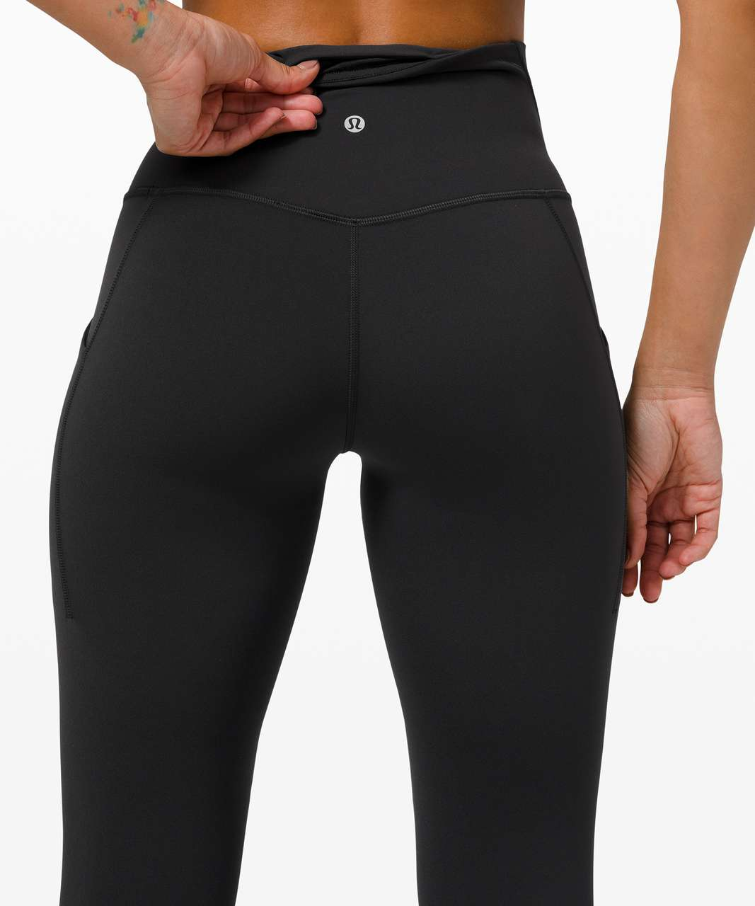"Lululemon Align High Rise Pant with Pockets 25"" - Black"