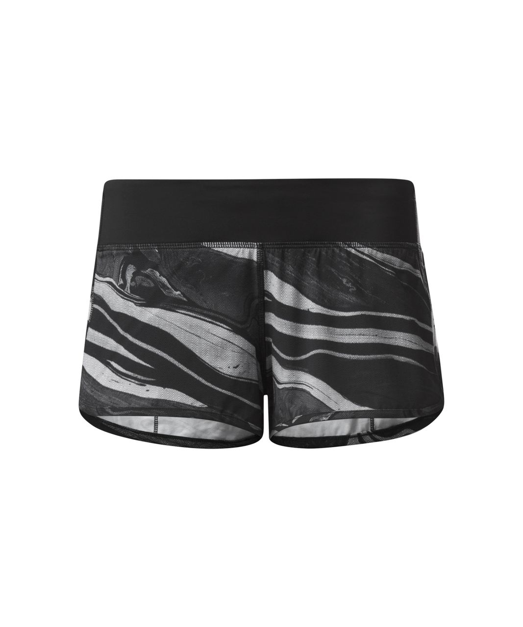 Lululemon Speed Short - Marbled Mix Speed Short White Black / Black