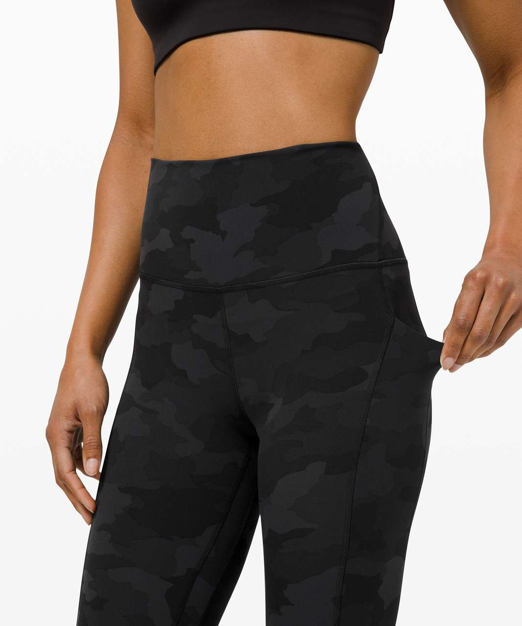 "Lululemon Align High Rise Crop with Pockets 23"" - Heritage 365 Camo Deep Coal Multi"