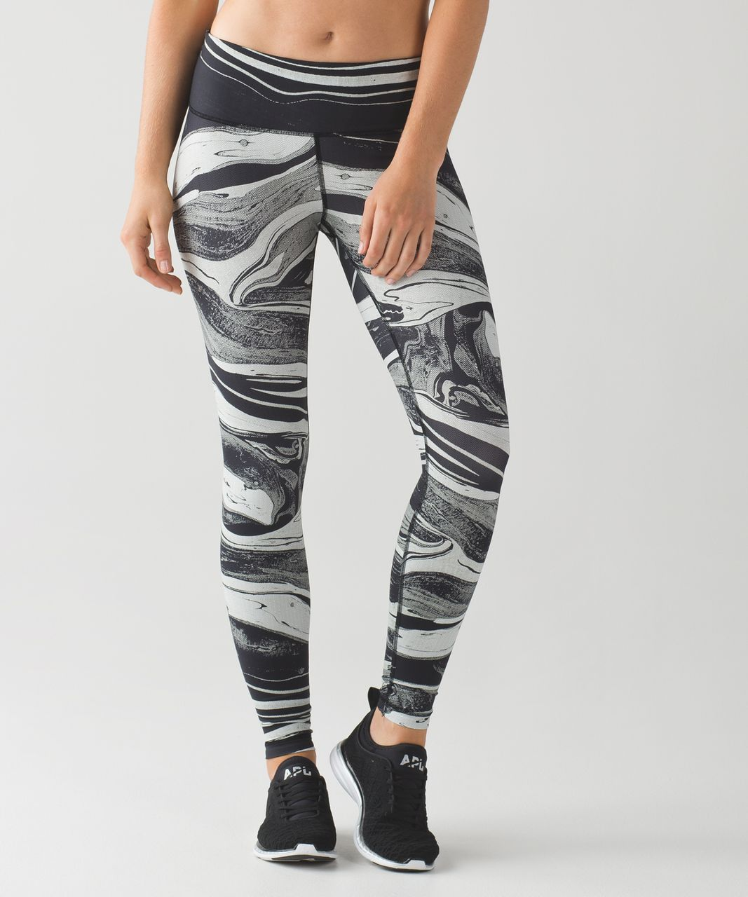 Lululemon Speed Wunder Tight (Nulux) - Marbled Mix Speed Wunder 50 G White Black