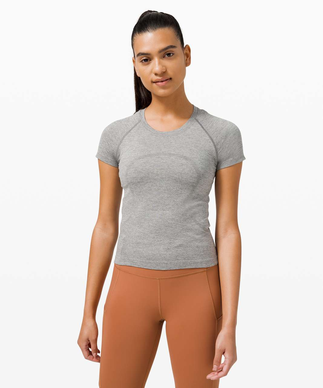 Lululemon Swiftly Tech Short Sleeve 2.0 *Race Length - Slate / White