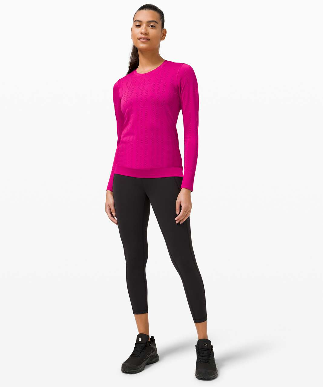 Lululemon Swiftly Breathe Long Sleeve *Fetching Lines - Fletching Lines Ripened Raspberry