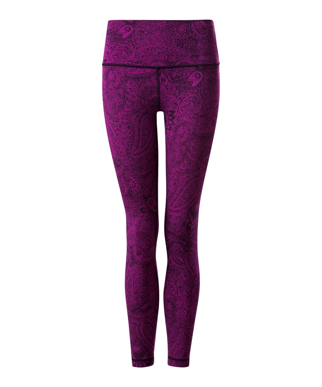 Lululemon High Times Pant - Antique Paisley Deep Fuschia Black