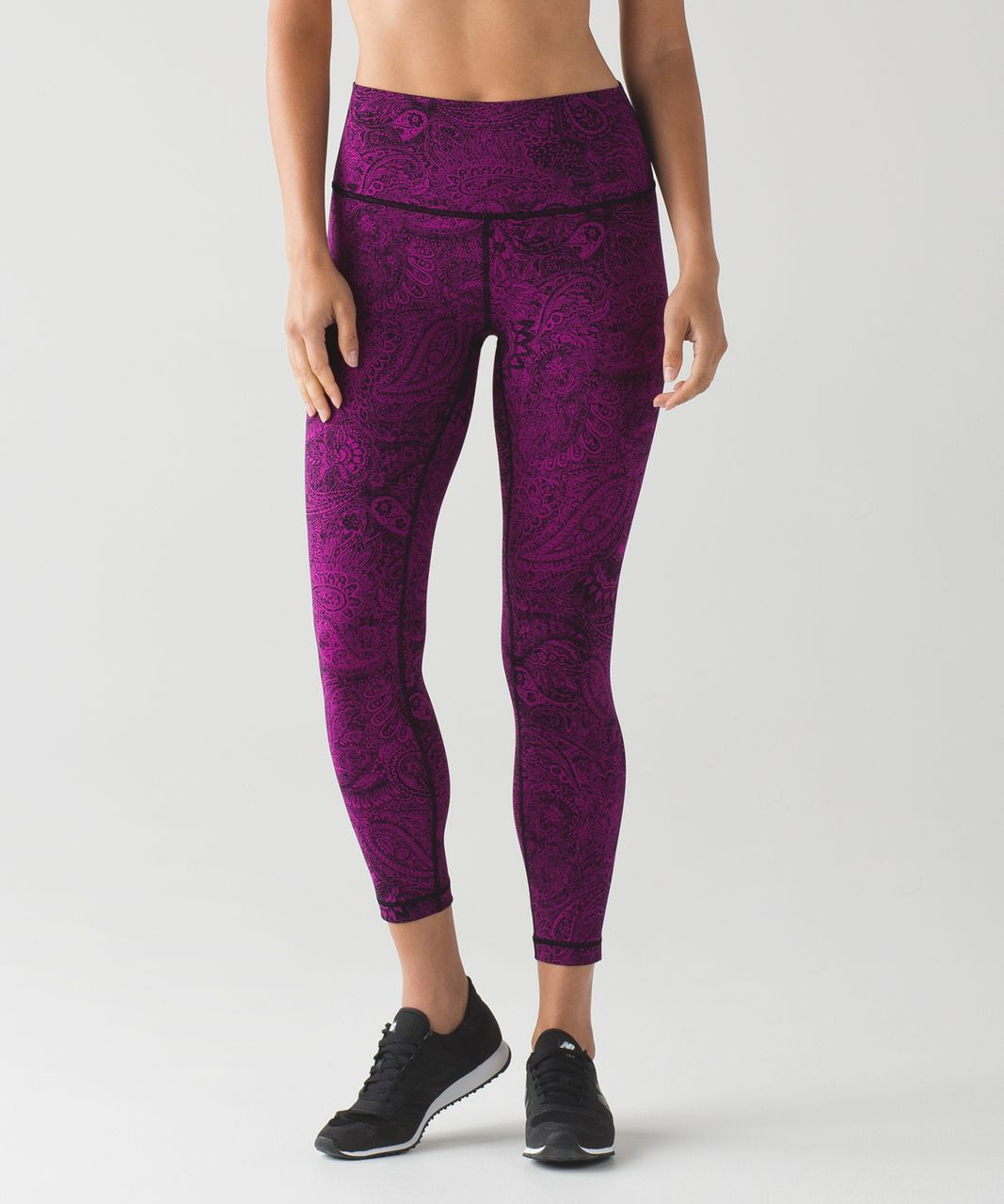 f4f012c523 Lululemon High Times Pant - Antique Paisley Deep Fuschia Black - lulu  fanatics