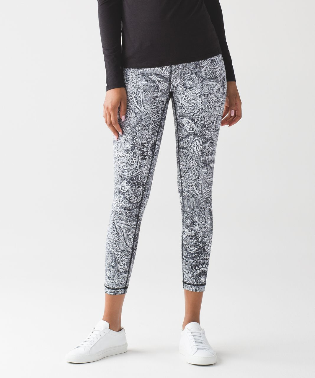 Lululemon High Times Pant - Antique Paisley White Black
