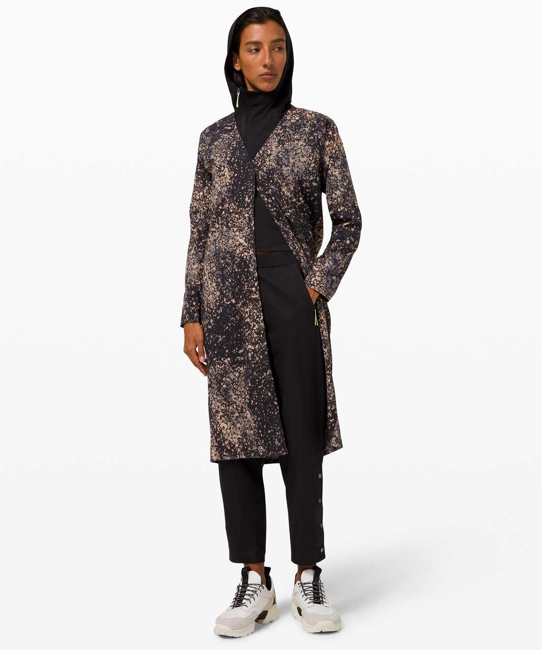 Lululemon Revera Duster Dress *lululemon lab - Planet Surface Black Granite Multi