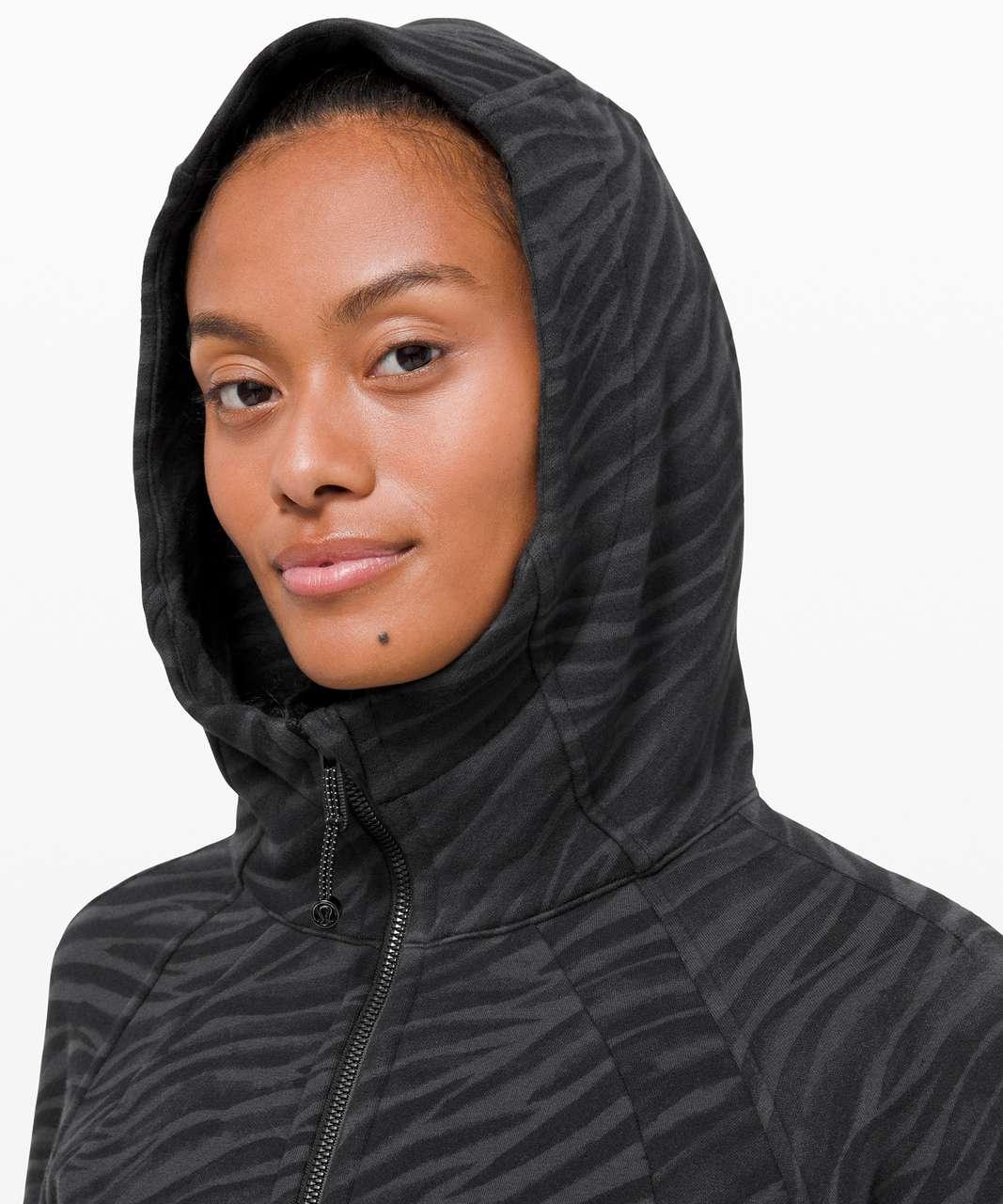 Lululemon Scuba Hoodie *Light Cotton Fleece - Le Tigre Camo WP Deep Coal Multi