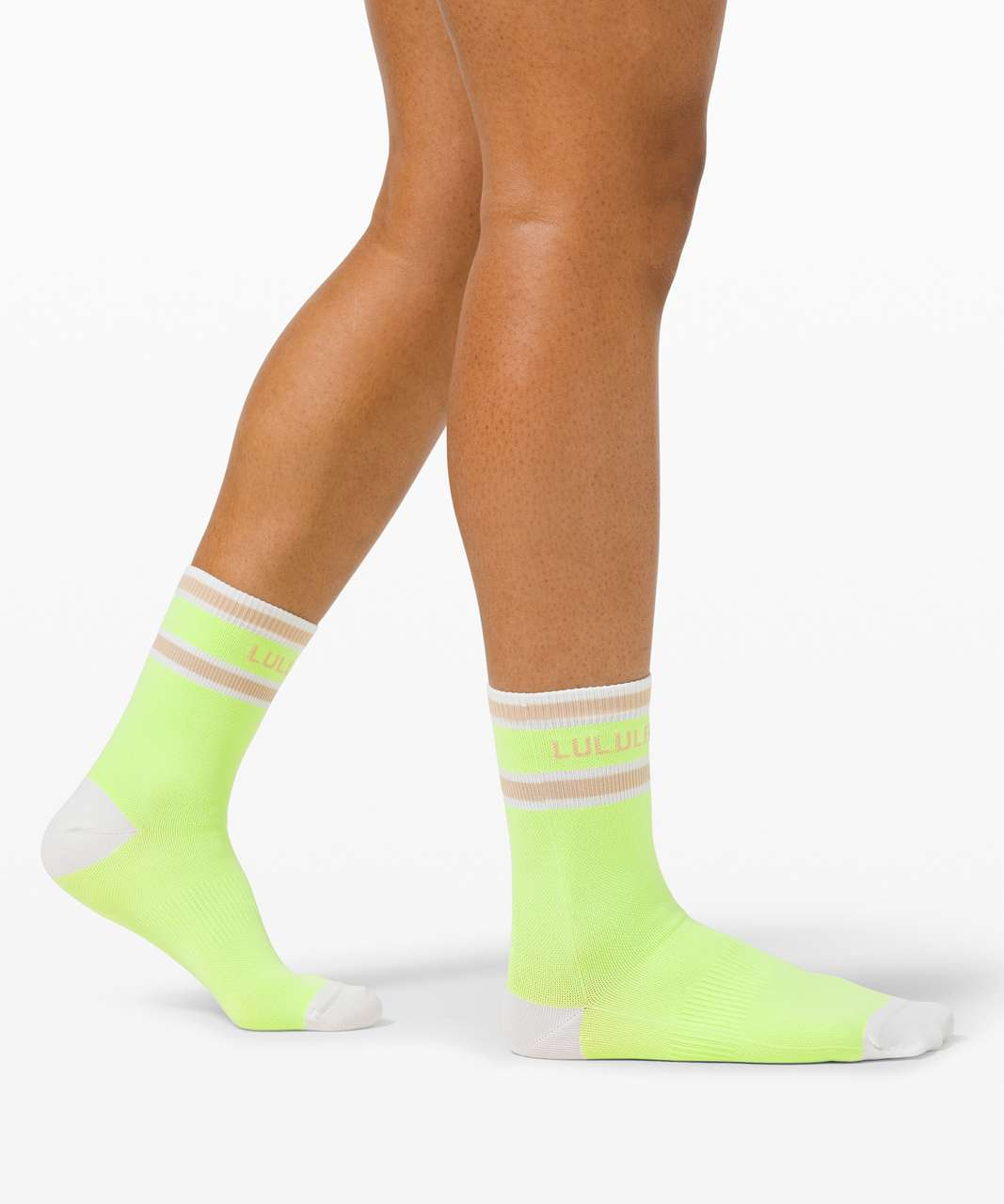 Lululemon Tale To Tell Quarter Sock *2 Pack - White / Neo Mint / Cafe Au Lait