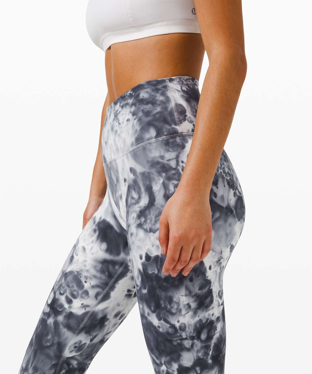 "Lululemon Wunder Under High-Rise Tight 25"" *Luxtreme - Marble Dye Classic Navy"