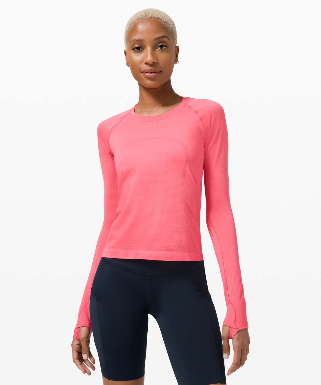 Lululemon Swiftly Tech Long Sleeve 2.0 *Race Length - Guava Pink / Guava Pink