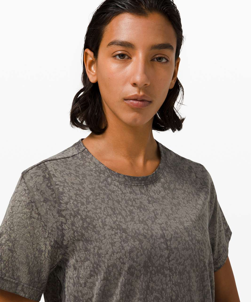 Lululemon Skreppa Short Sleeve *lululemon lab - Graphite Grey Bloom Dye