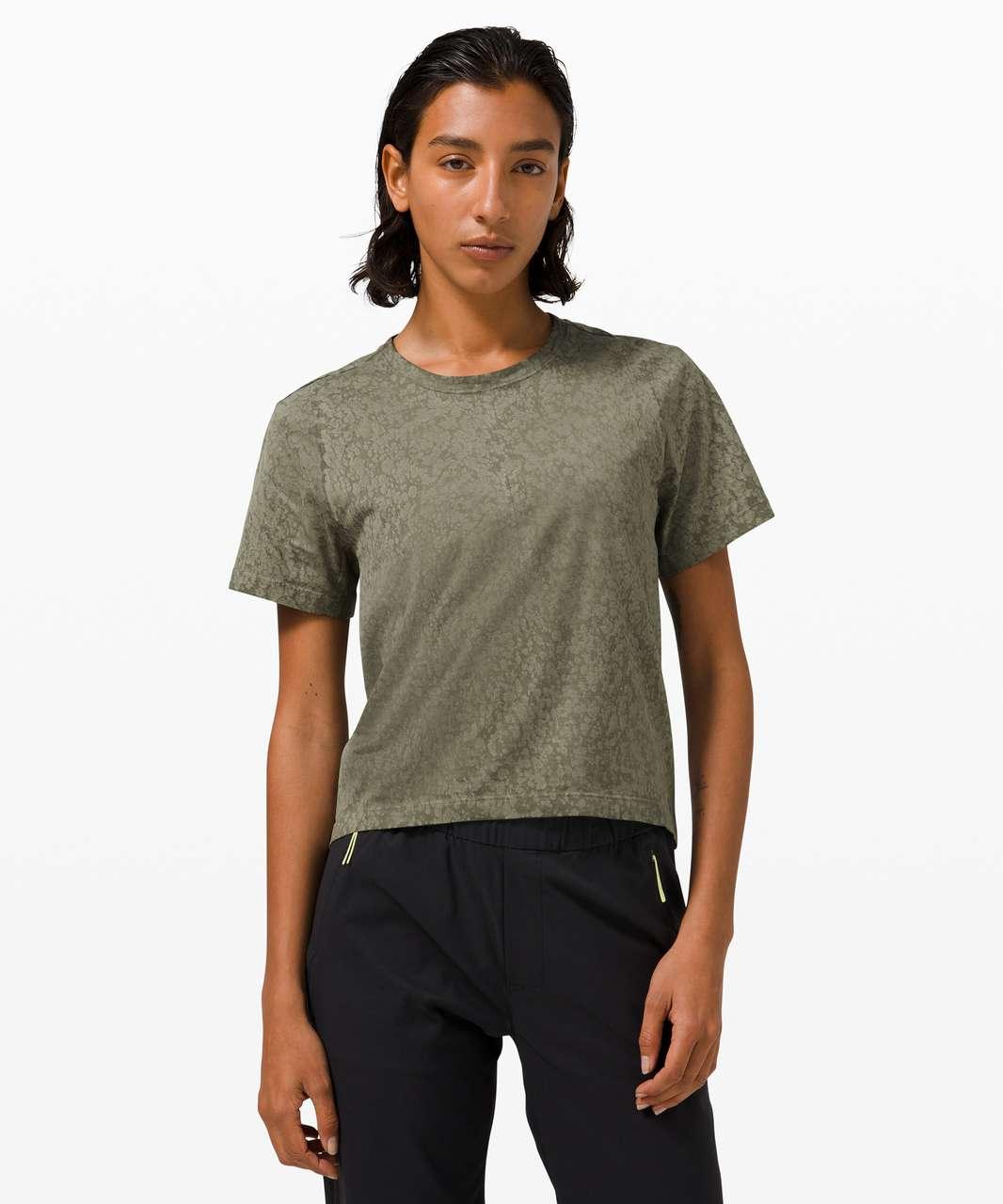 Lululemon Skreppa Short Sleeve *lululemon lab - Army Green Bloom Dye