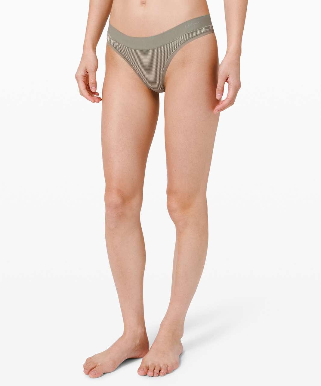 Lululemon Soft Breathable Thong *Stripe - Sea Moss