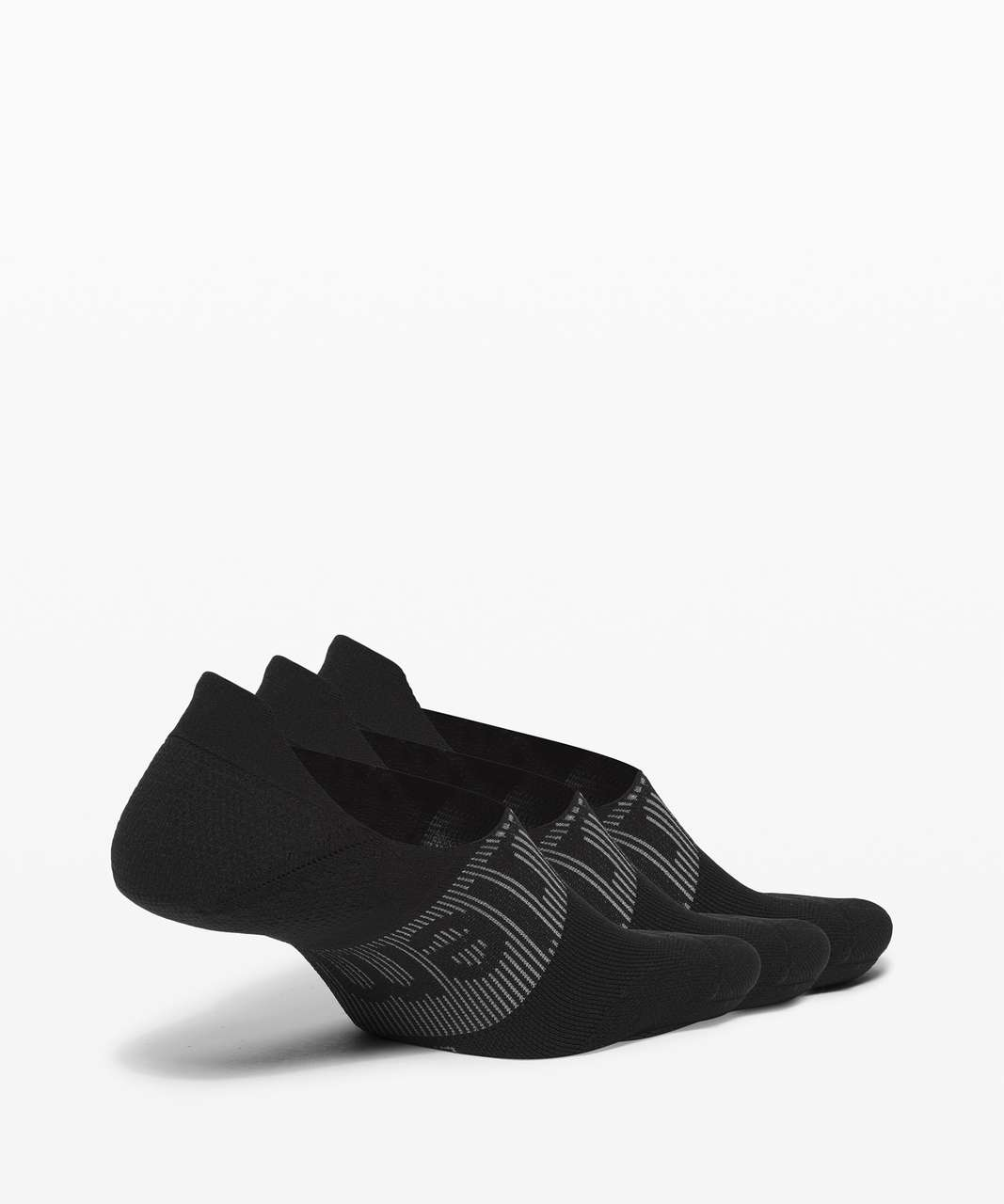 Lululemon Power Stride No-Show Sock with Active Grip *3 Pack - Black