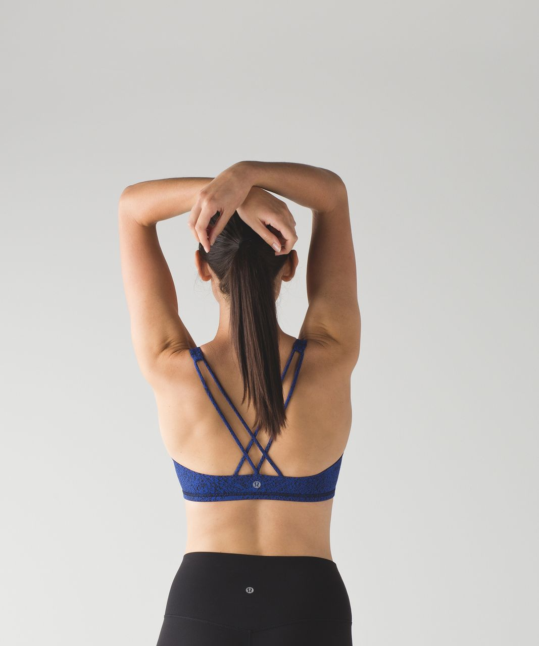 Lululemon Free To Be Bra - Power Luxtreme Spray Jacquard Sapphire Blue Black