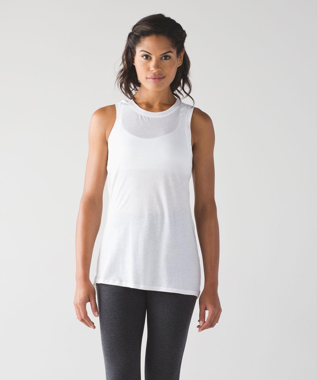 Lululemon Bend And Twist Tank - White