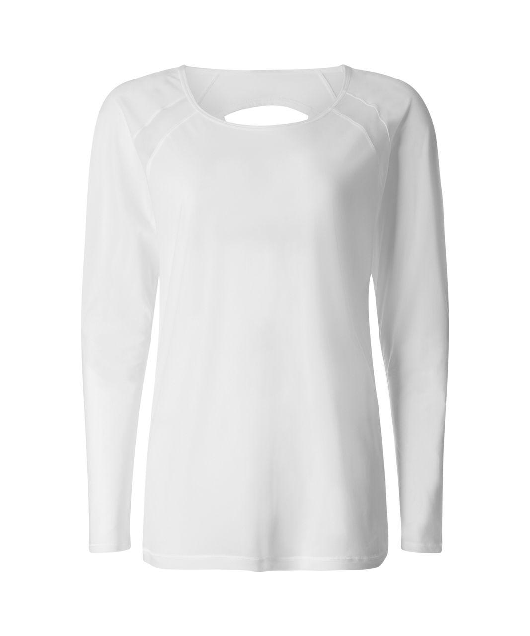 Lululemon If Youre Lucky Long Sleeve Tee II - White