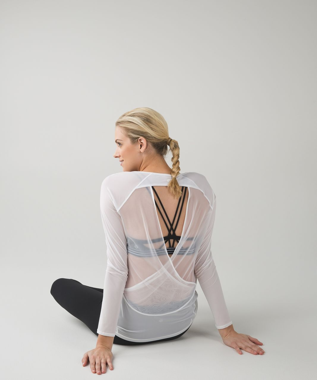 Lululemon If Youre Lucky Long Sleeve Tee II - White