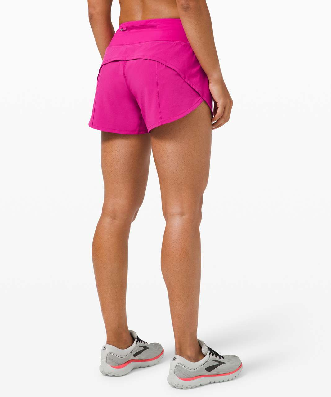 "Lululemon Speed Up Short Long *4"" Updated Fit - Ripened Raspberry"