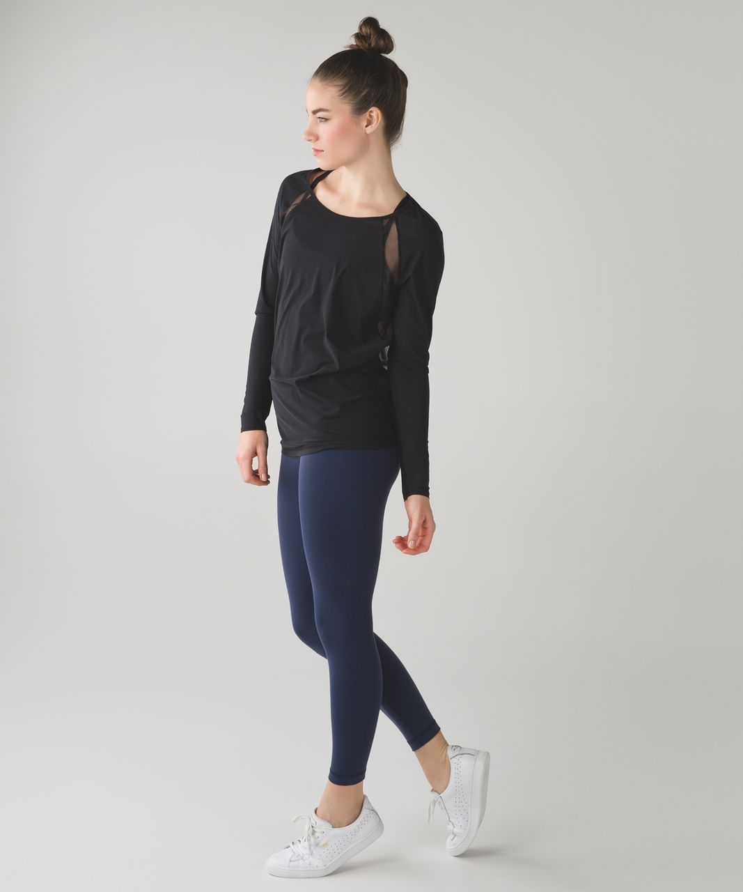 Lululemon If Youre Lucky Long Sleeve Tee II - Black