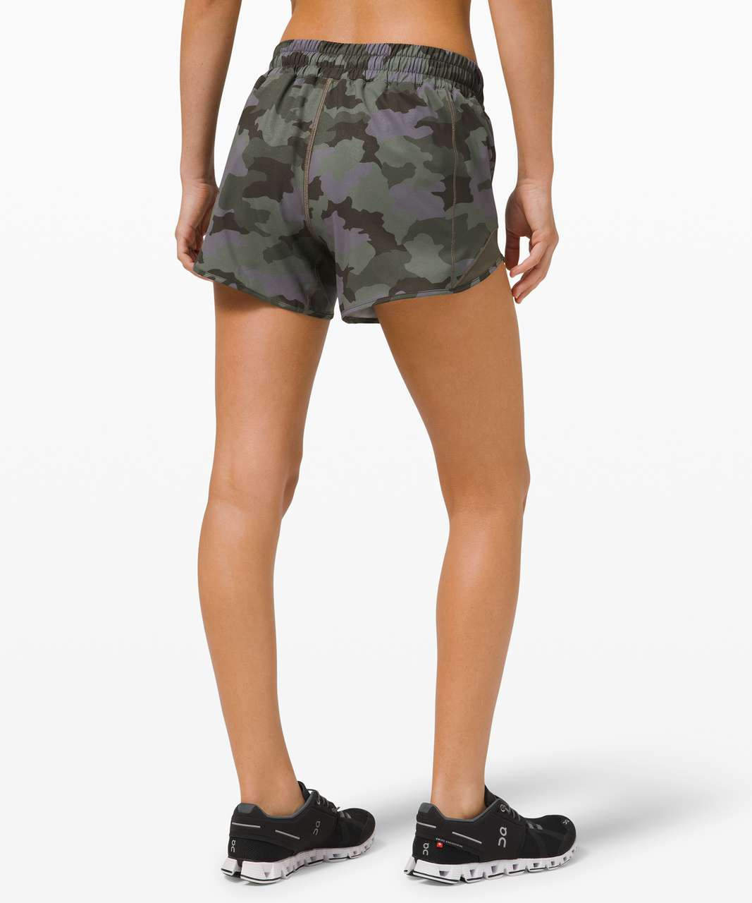 "Lululemon Hotty Hot Short II *Long 4"" - Heritage 365 Camo Dusky Lavender Multi / Army Green"