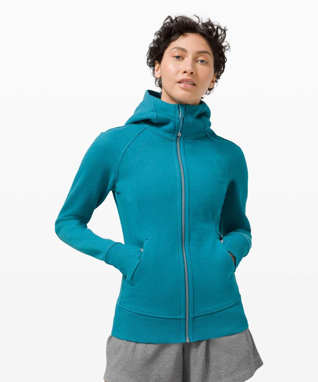 Lululemon Scuba Hoodie *Light Cotton Fleece - Heathered Hawaiian Blue