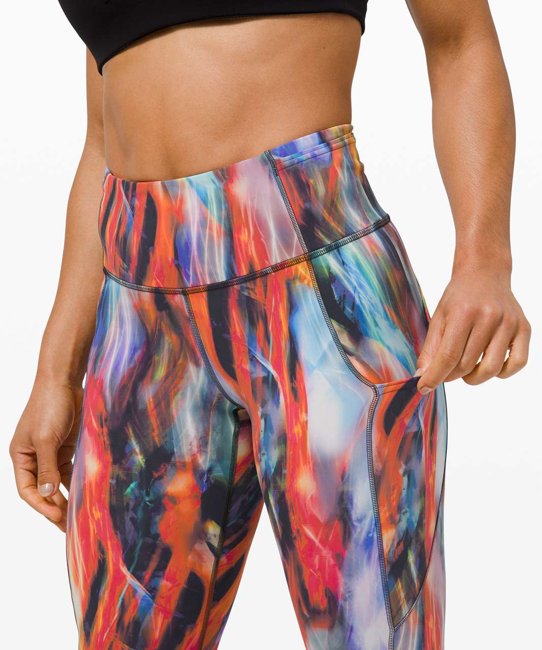 """Lululemon Fast and Free High-Rise Crop 23"""" *Non-Reflective - Chroma Fusion Multi"""