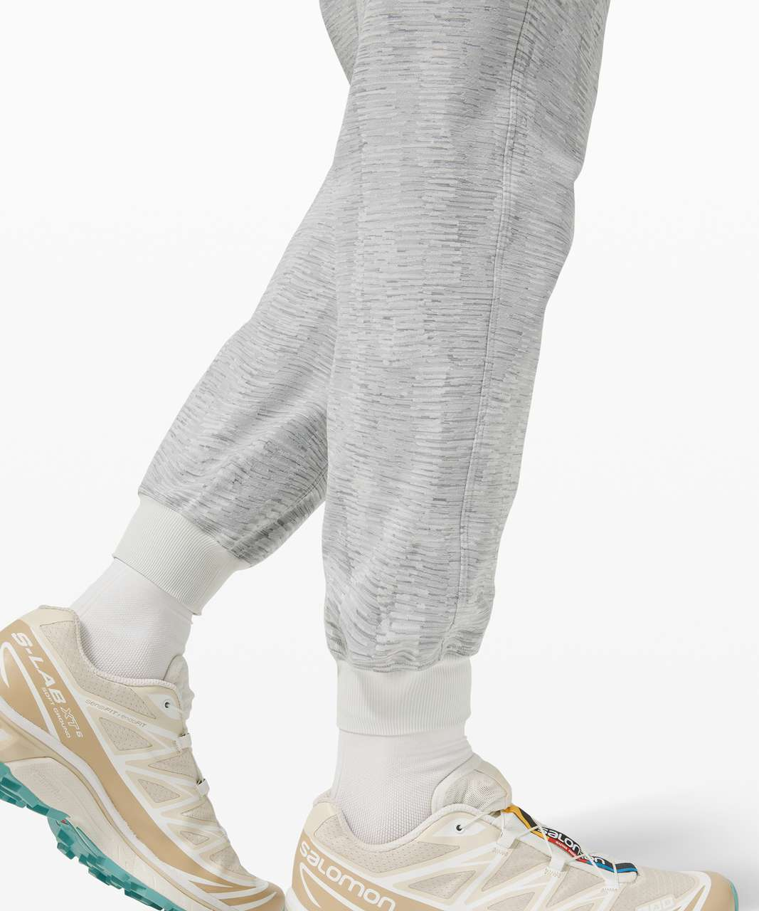 Lululemon Stretch High-Rise Jogger - Linear Tempo Jacquard Silver Drop Vapor