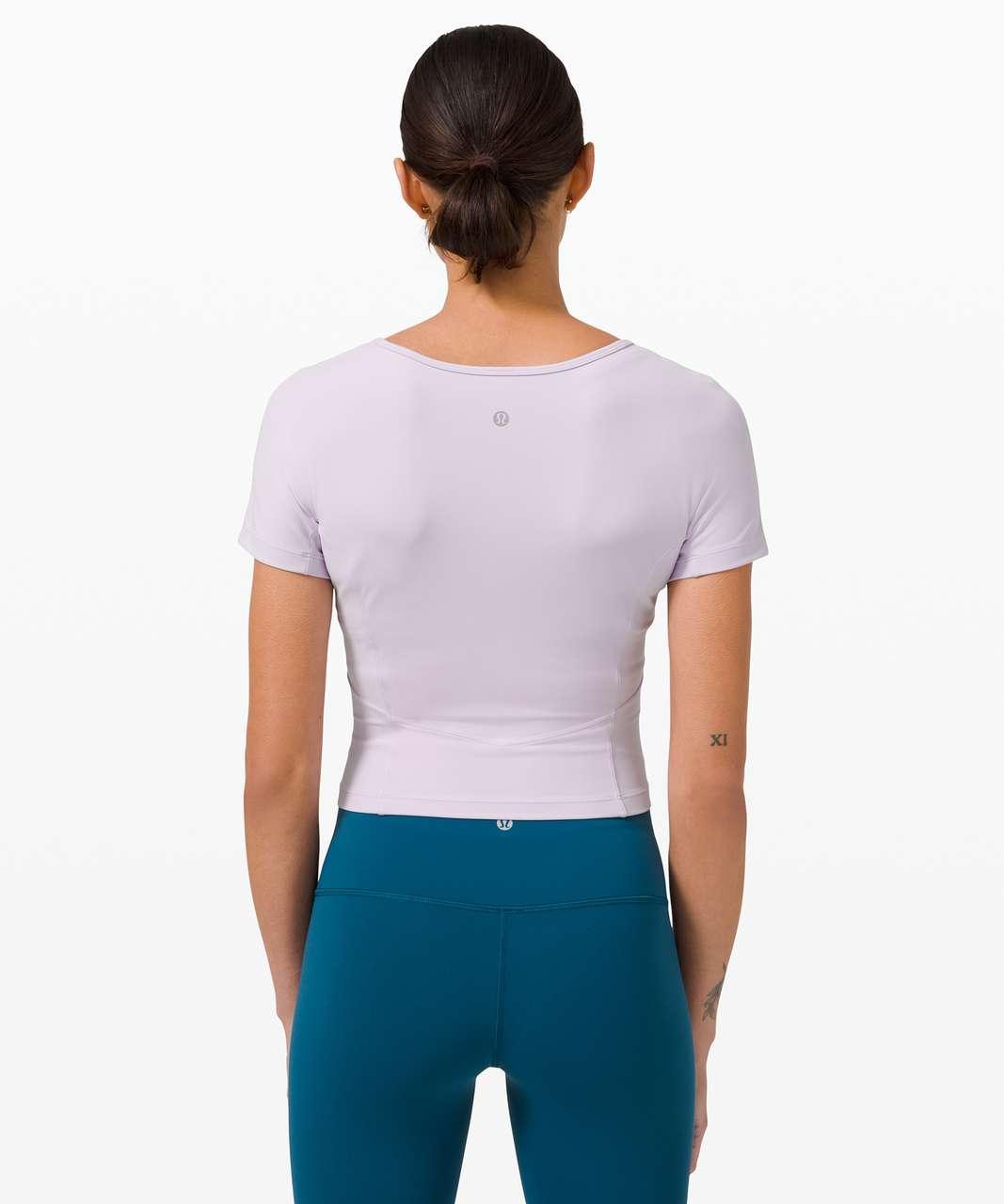 Lululemon Nulu Cropped Slim Yoga Short Sleeve - Lavender Dew