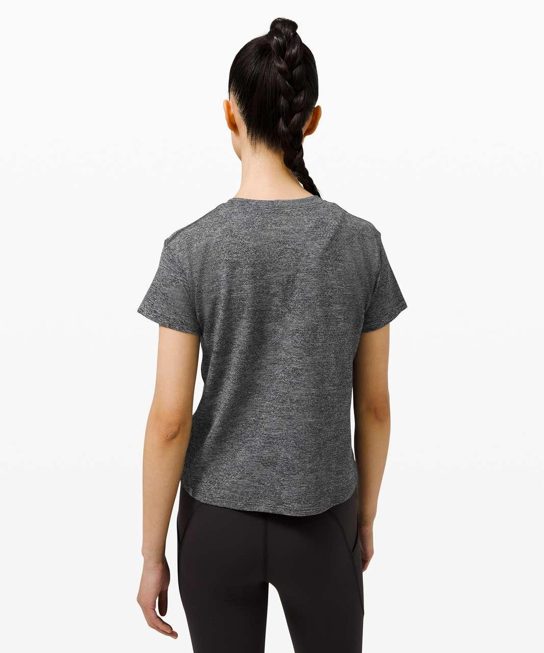Lululemon Train to Be Short Sleeve *Camo - Dot Camo Rhino Grey / Black