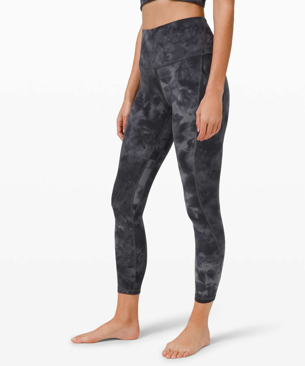 "Lululemon Align High Rise Pant with Pockets 25"" - Diamond Dye Pitch Grey Graphite Grey"