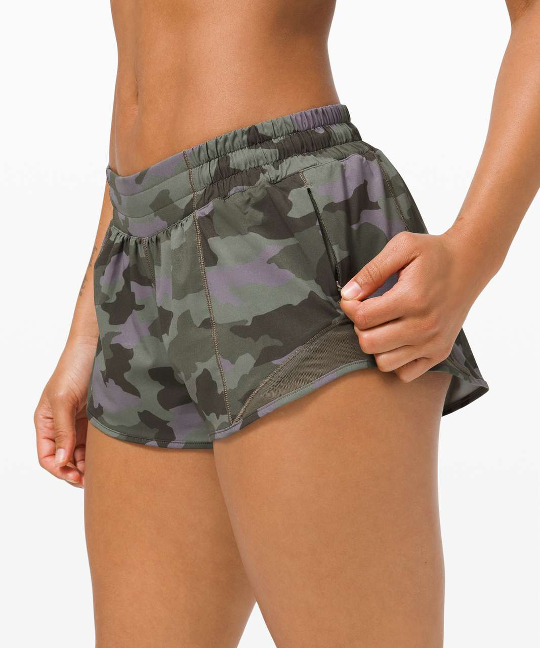 "Lululemon Hotty Hot Short II *2.5"" - Heritage 365 Camo Dusky Lavender Multi / Army Green"