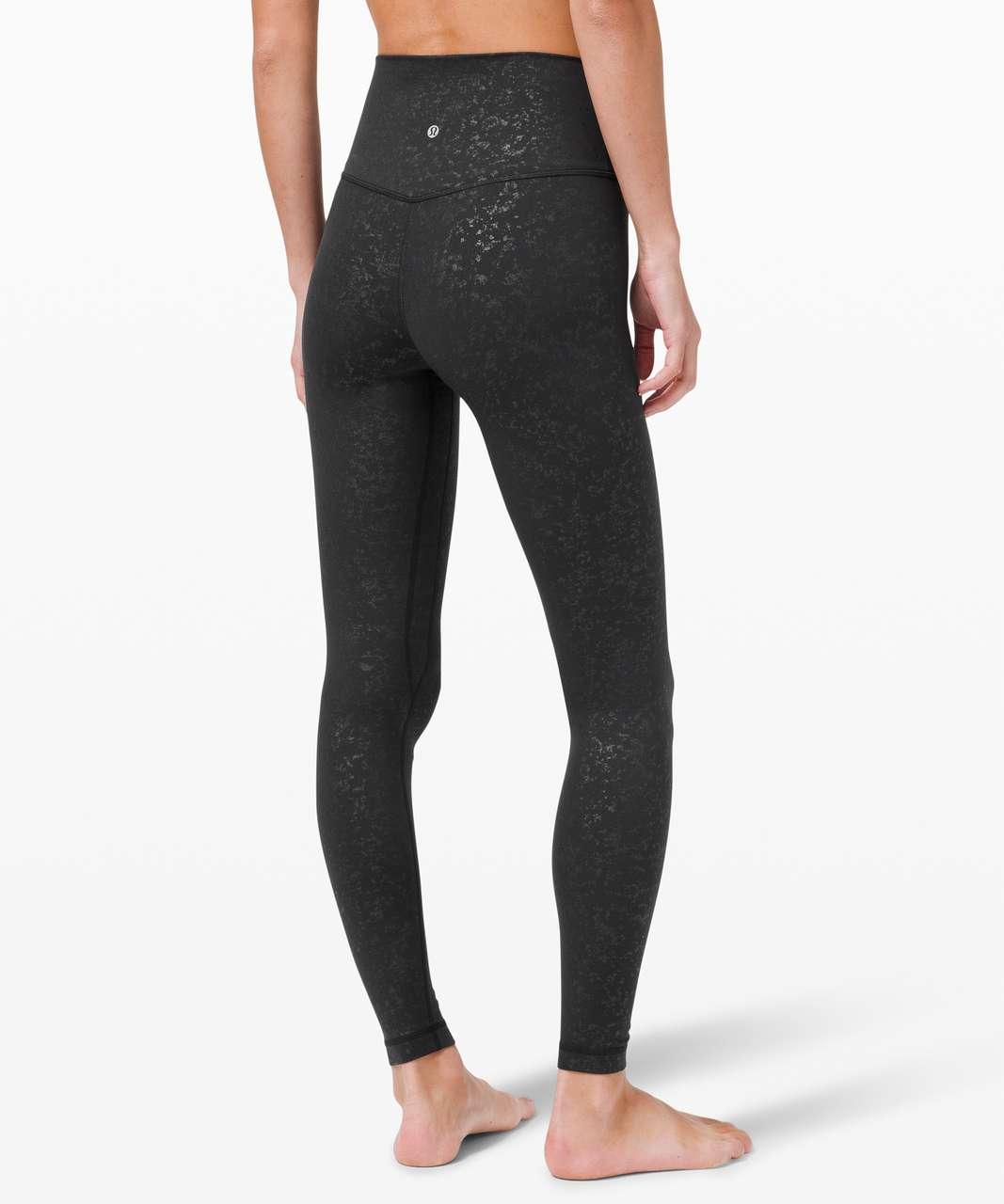 "Lululemon Align Pant 28"" - Speckle Emboss Black"