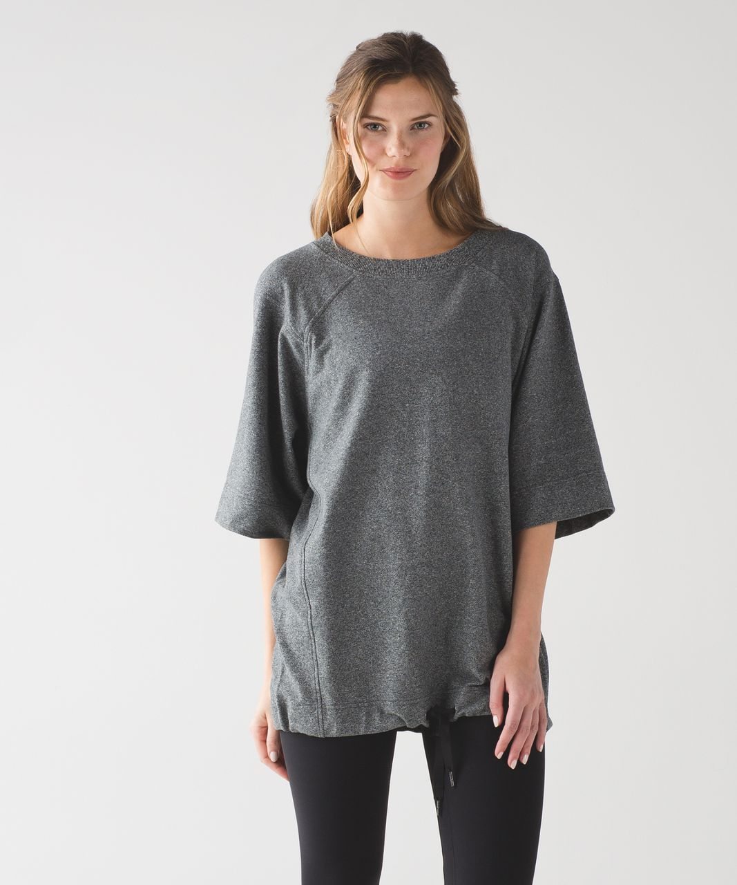 Lululemon Split Short Sleeve - Heathered Speckled Black