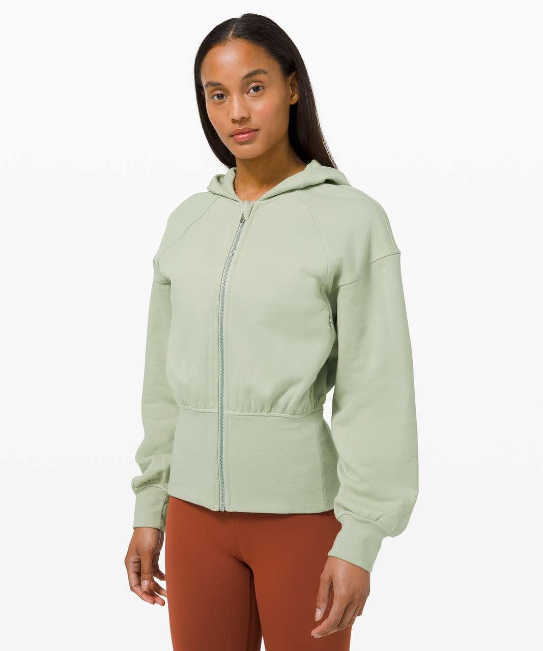 Lululemon Hugged-Waist Cotton Zip Hoodie - Green Fern