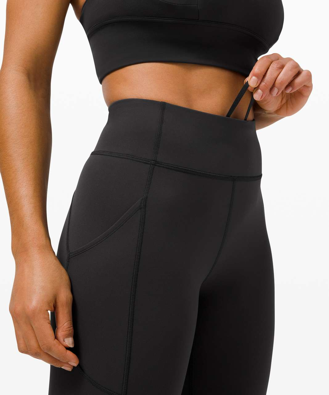 "Lululemon Invigorate High-Rise Crop 17"" - Black"