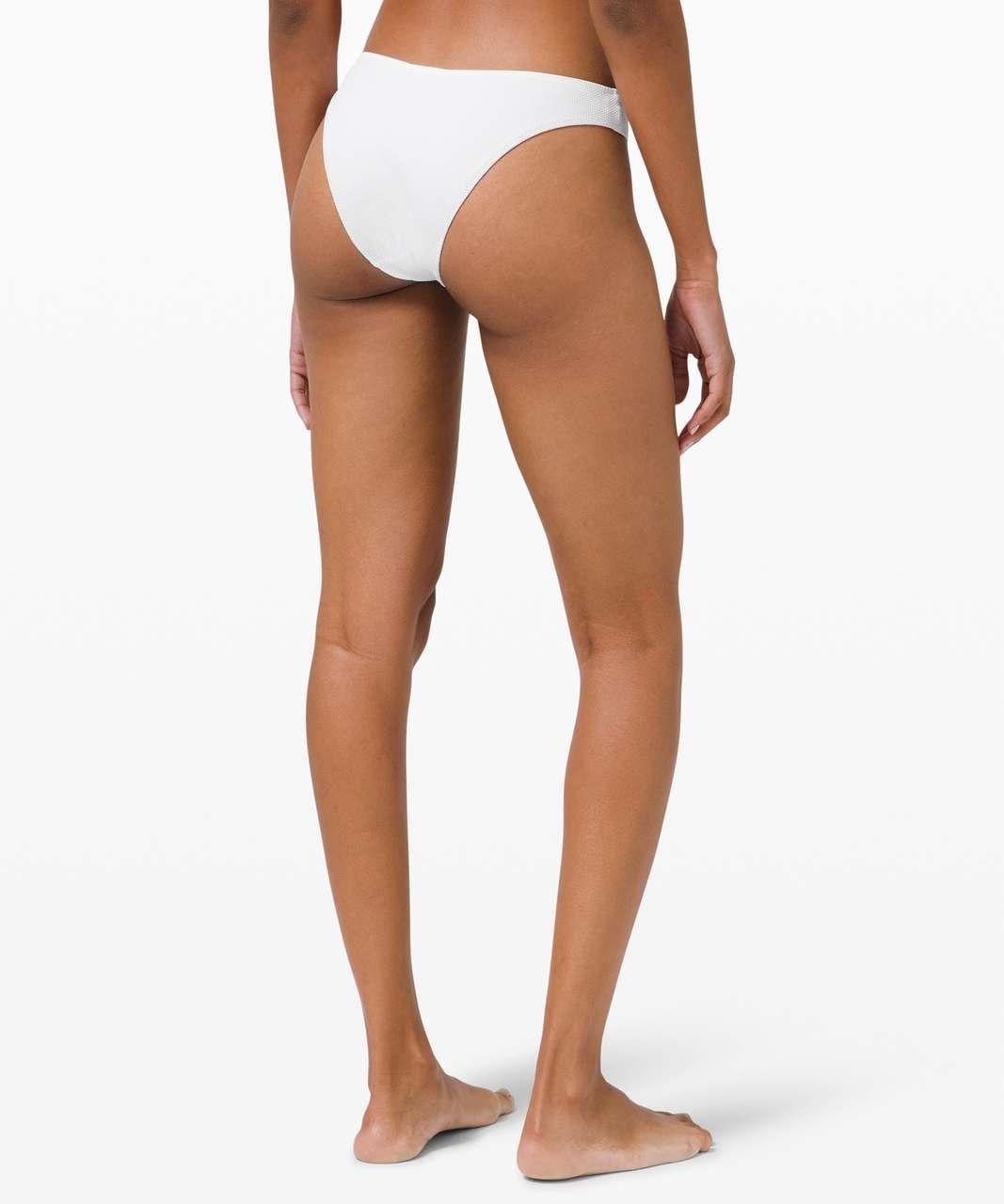Lululemon Honeycomb Dip Swim Bottom *Mid Rise, Skimpy - White