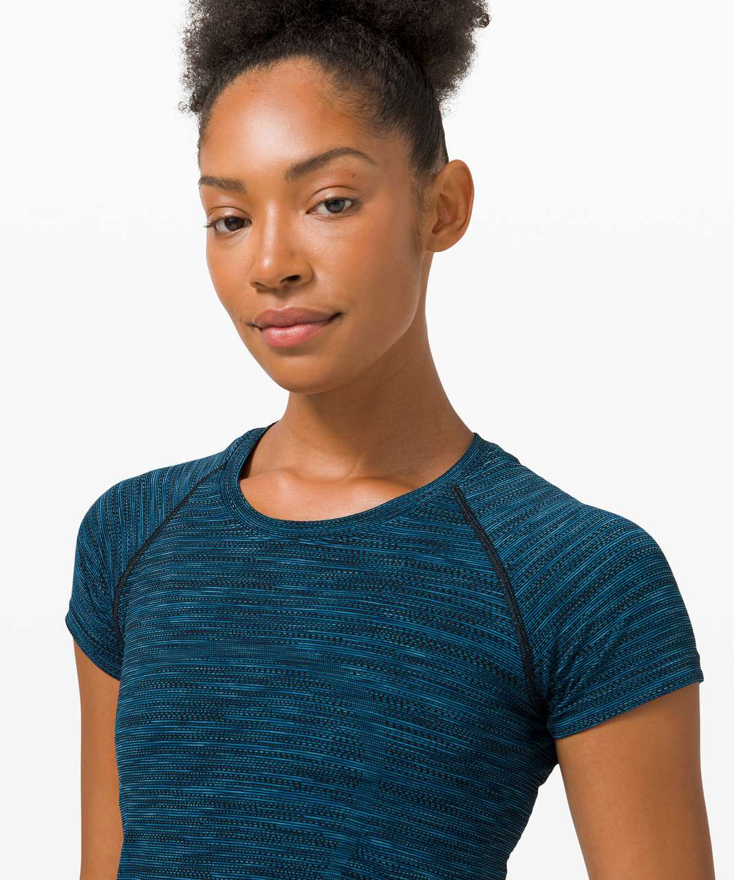 Lululemon Swiftly Tech Short Sleeve 2.0 - Prism Stripe Turquoise Tide Multi